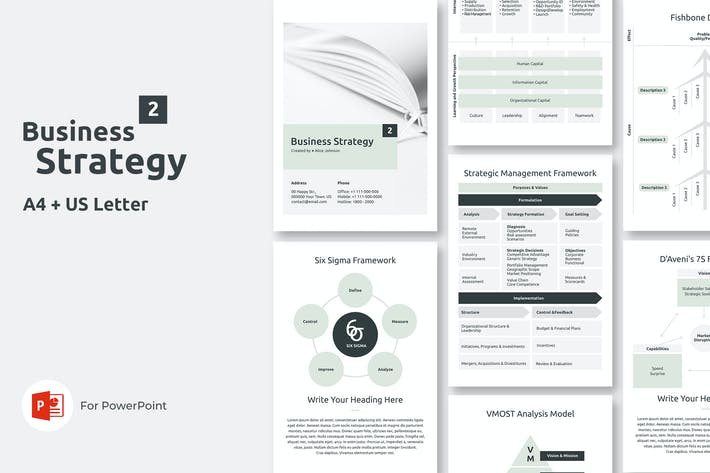 Thumbnail for Vertical Business Strategy Two PowerPoint Template