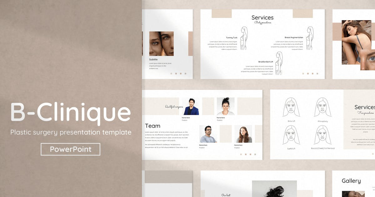 Download Plastic Surgery PowerPoint Template by Krafted