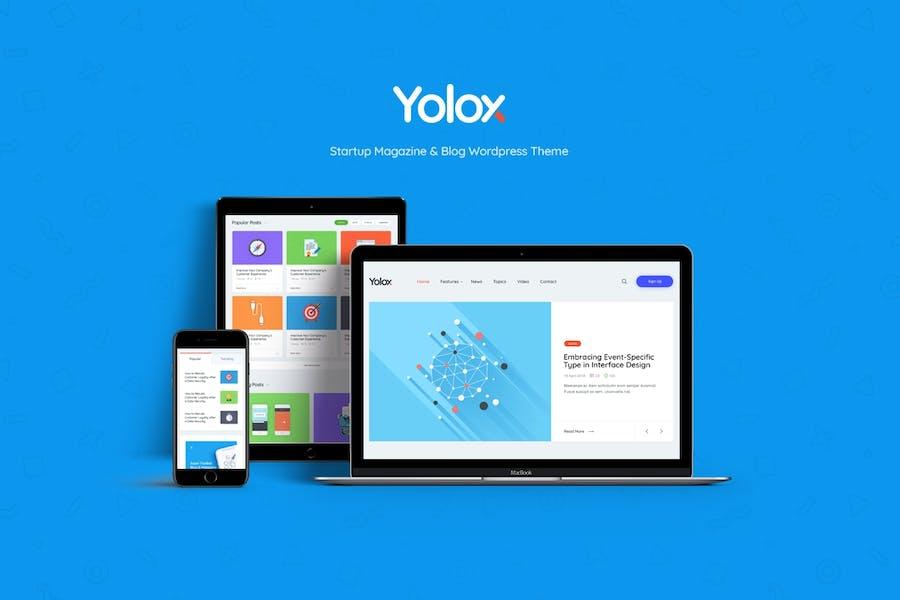 Yolox   Modern WordPress Blog Theme for Business