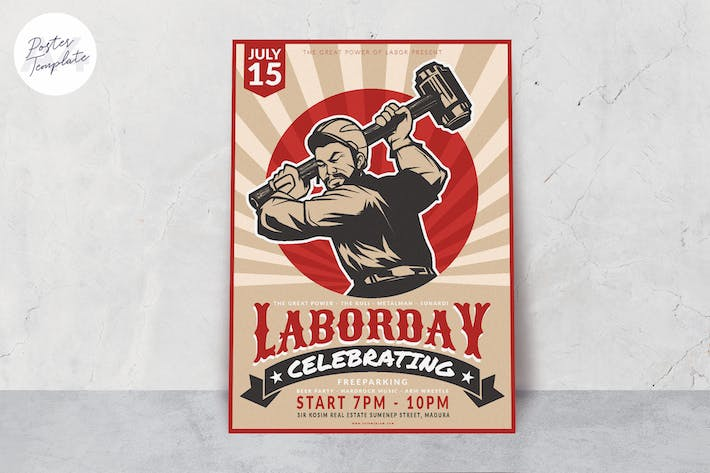 Thumbnail for Labor Day Poster Template