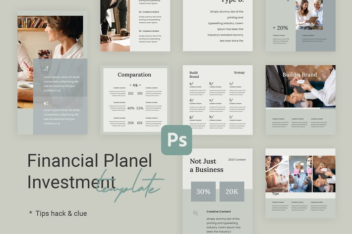 Thumbnail for Tips & Tutorial Instagram Templates for Finance v2