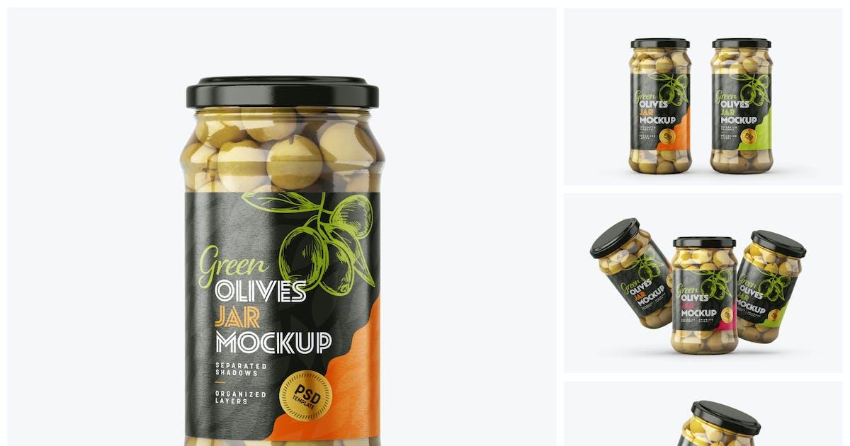 Download Olives Jar Mockup Set by deeplabstudio