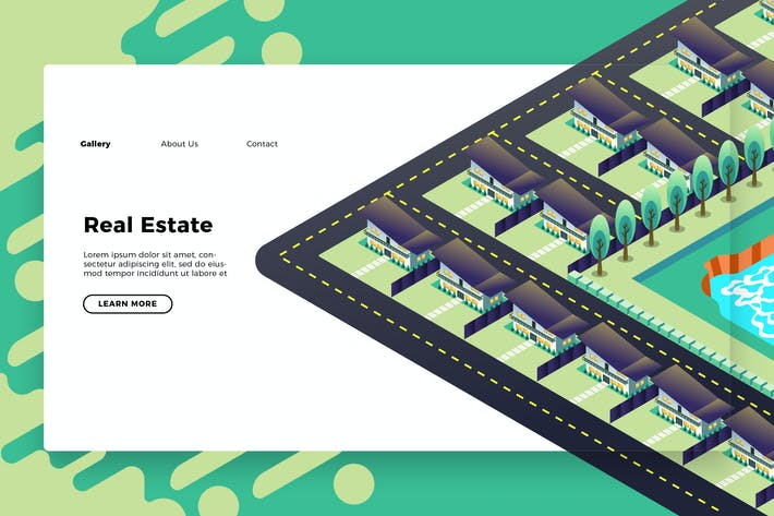 Thumbnail for Real Estate - Banner & Landing Page
