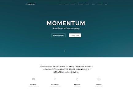 Momentum - Simple Creative OnePage Joomla Template