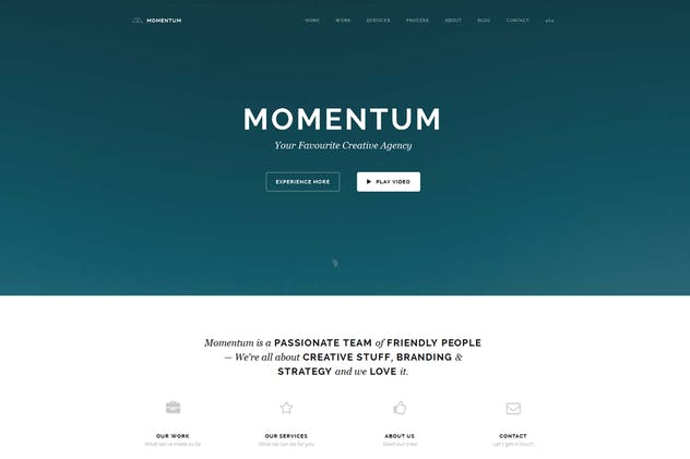 Momentum - Simple Creative OnePage Joomla Template