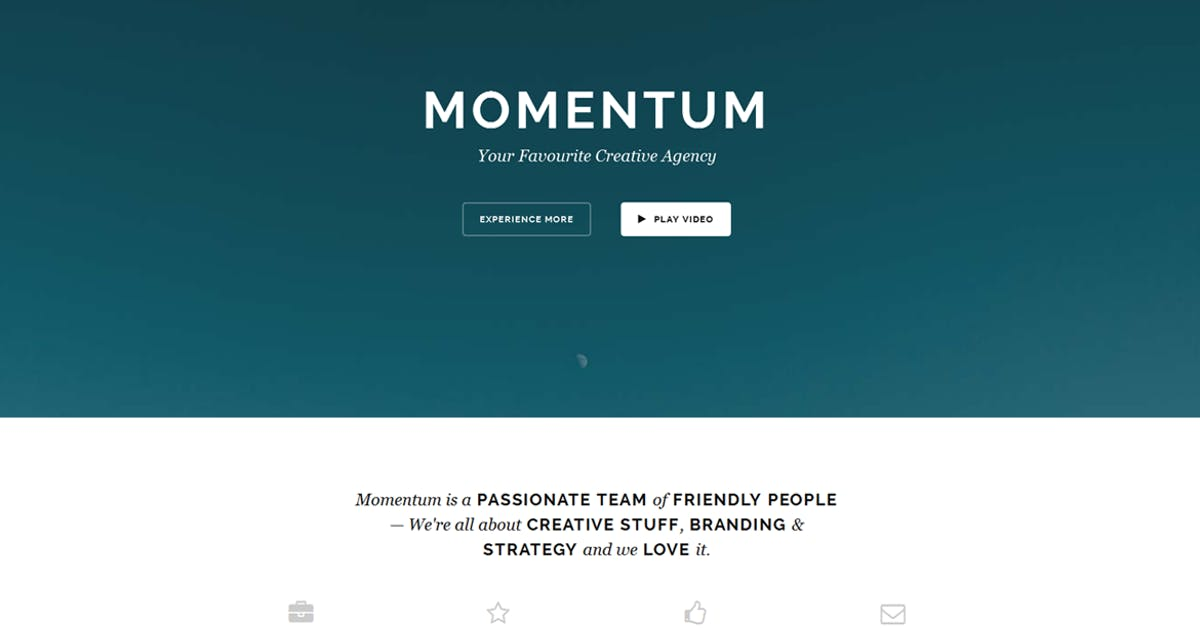 Download Momentum - Simple Creative OnePage Joomla Template by cththemes