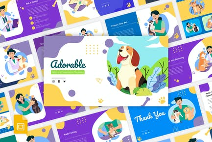 Adorable - Pets Care Google Slides Template