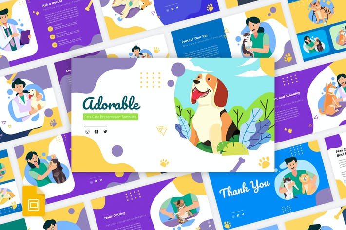 Thumbnail for Adorable - Pets Care Google Slides Template
