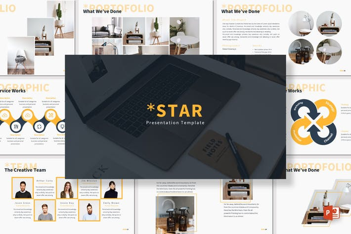 Thumbnail for Star - Powerpoint Template