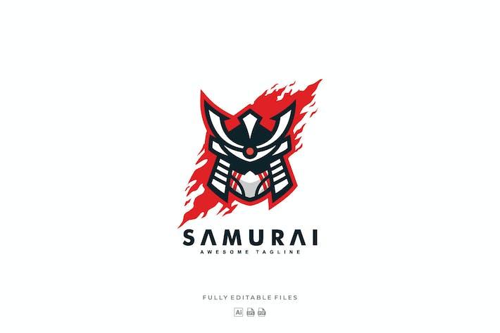 Thumbnail for Samurai Color Mascot Logo