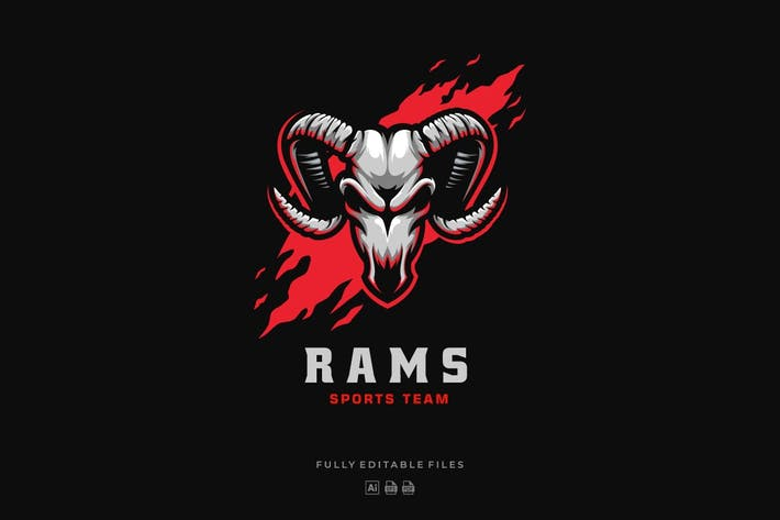 Thumbnail for Rams Head Sports and E-sports Style Logo