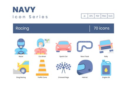 70 Íconos de carreras - Navy Series
