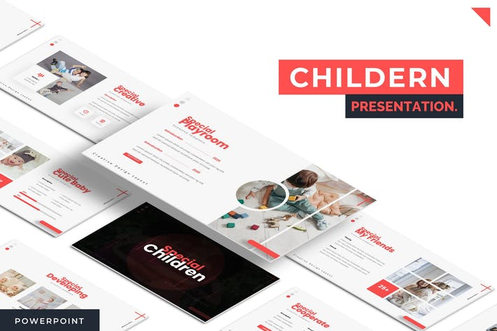 Thumbnail for Children - Powerpoint Template