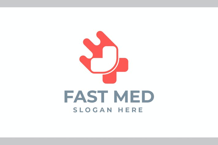 Thumbnail for Fast Med - Health and Medical Logo