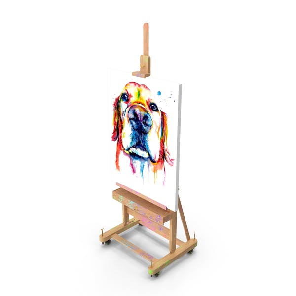 Studio Easel with Canvas