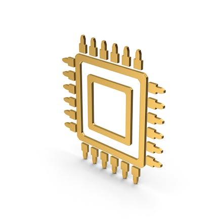 Symbol Microchip Gold