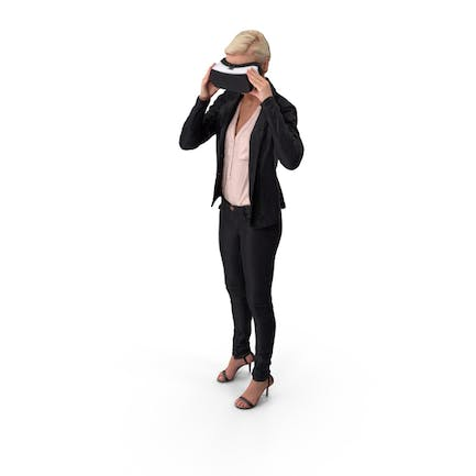Casual Women Posed With VR