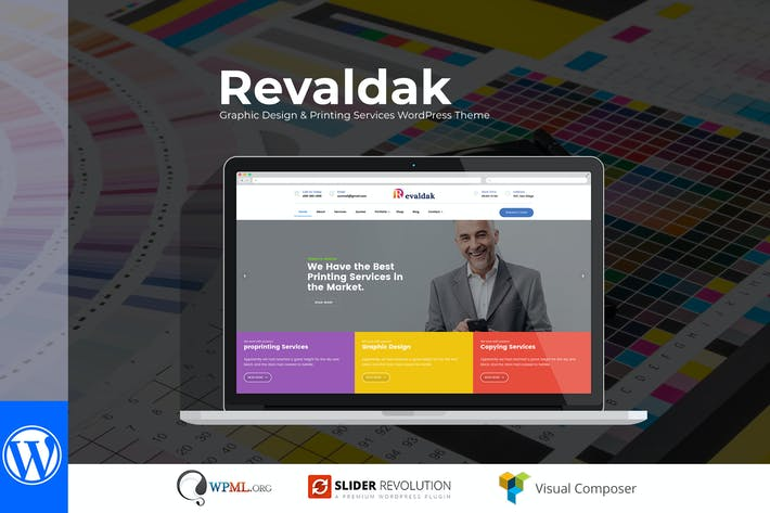 Thumbnail for Revaldak - Printing Services WordPress Theme