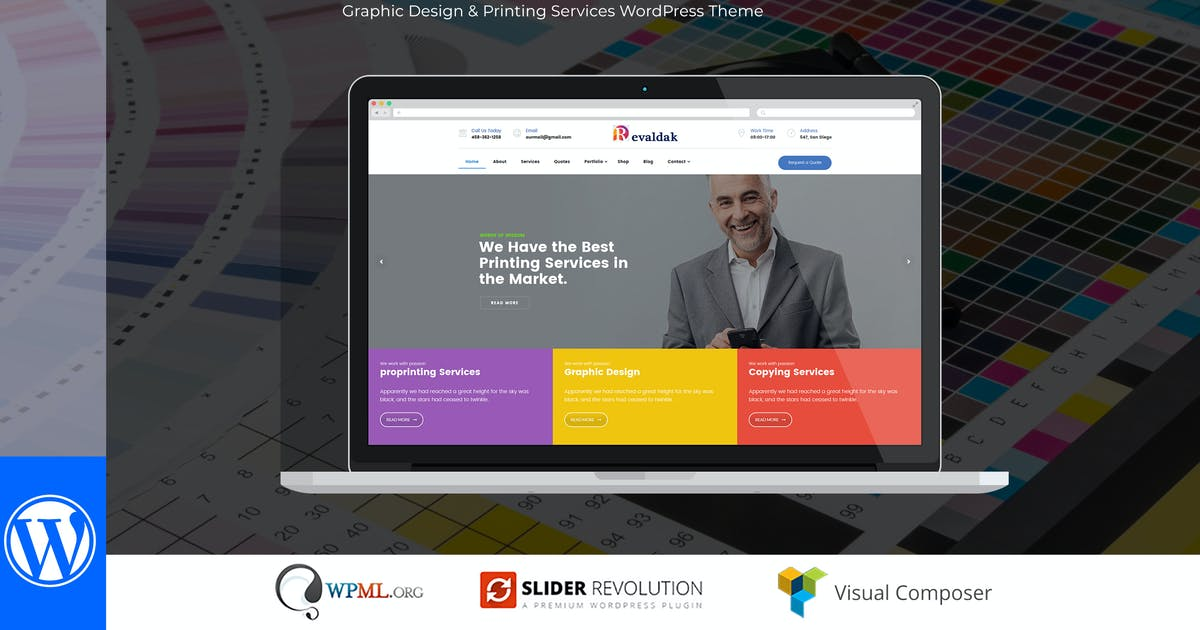 Download Revaldak - Printing Services WordPress Theme by Mymoun