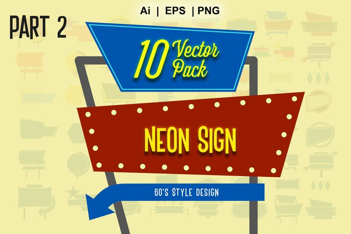 Thumbnail for neon sign vector  part 2