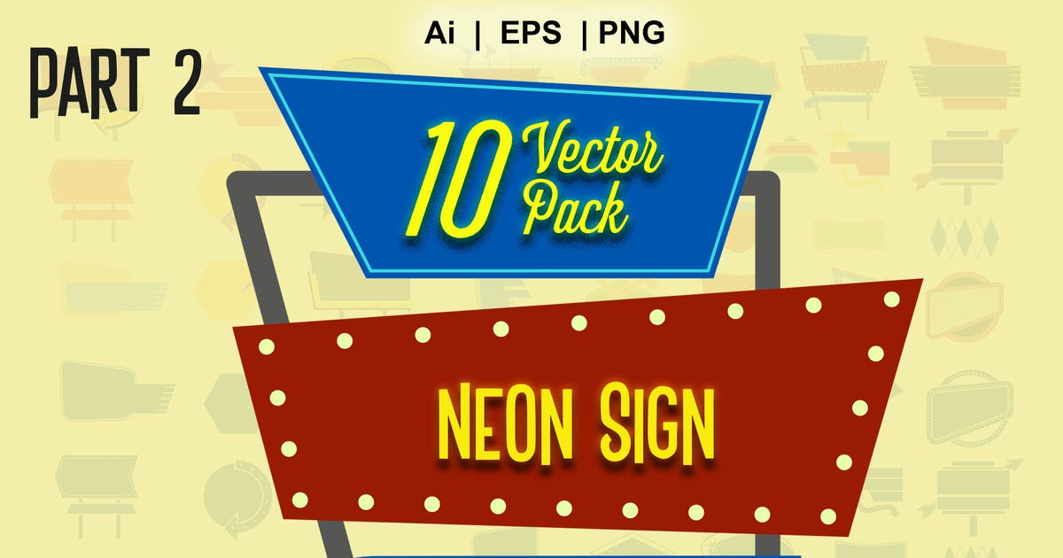 Download neon sign vector  part 2 by Flavortype