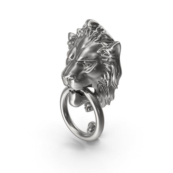 Lion Door Knocker Silver