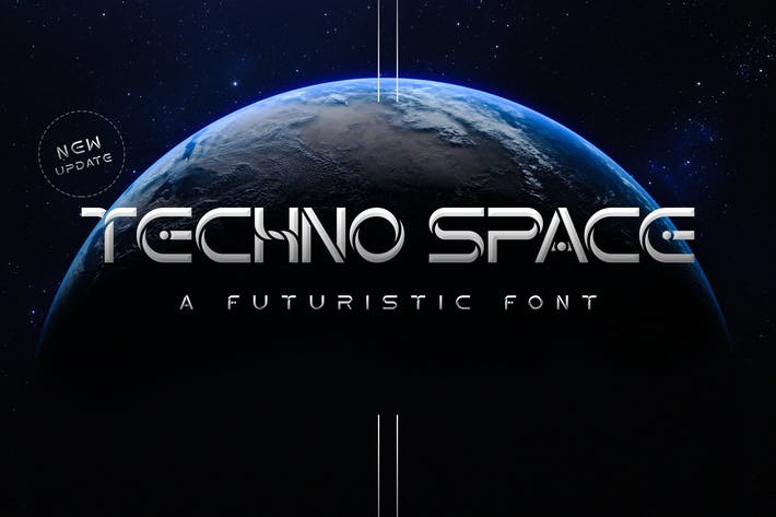Thumbnail for Techno Space Futuristic Font