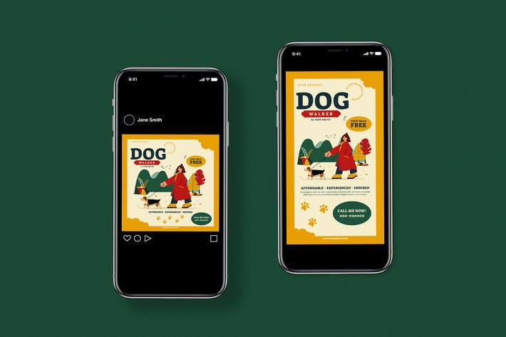 Thumbnail for Dog Walker Flyer Set