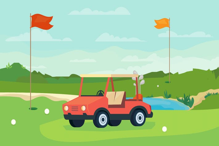 Cover Image For Golf Game - Illustration Background