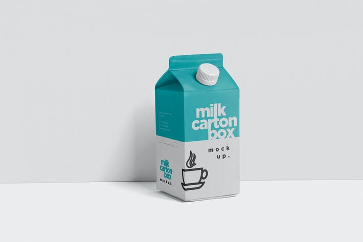 Cover Image For Juice - Milk Mockup in 500ml Carton Box
