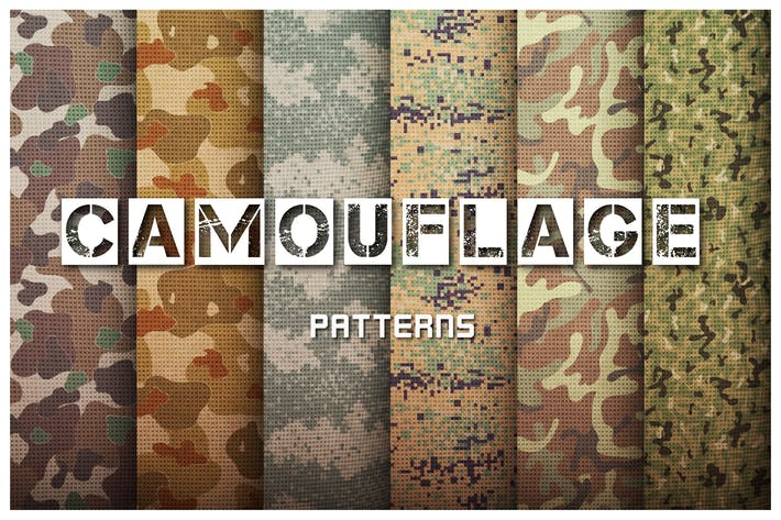 Thumbnail for Camouflage Patterns Set