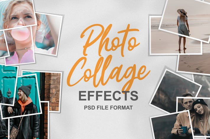 Photo Collage Effects PSD Template