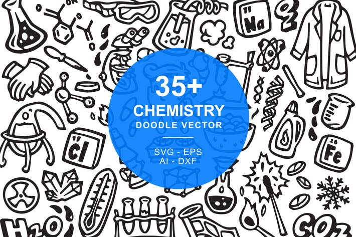 Chemistry Doodle Art Illustration
