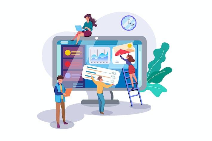 Thumbnail for Creative Idea Presentation Illustration