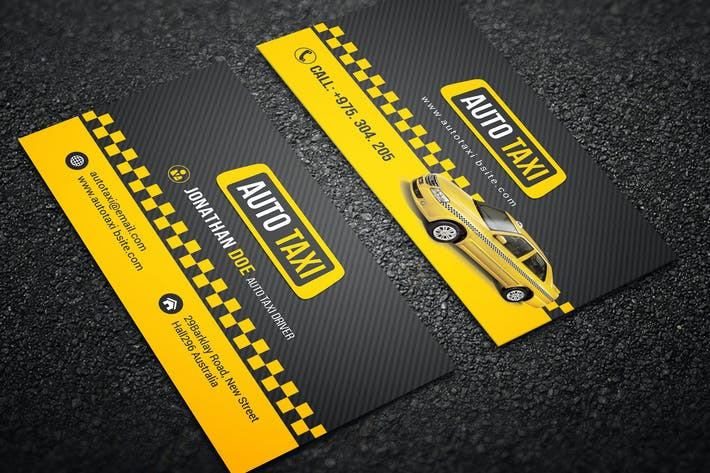 Cover Image For Taxi Cab Business Card