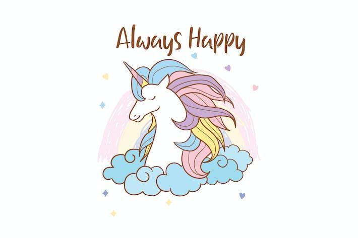 Thumbnail for cute unicorn vector