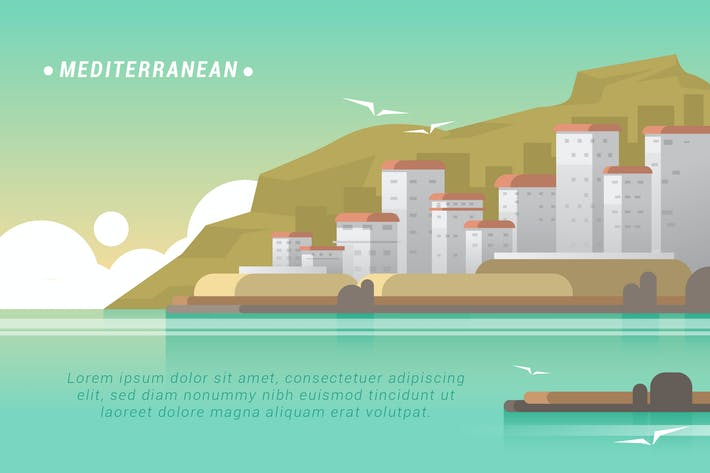 Thumbnail for Mediterranean - Vector Landscape & Building