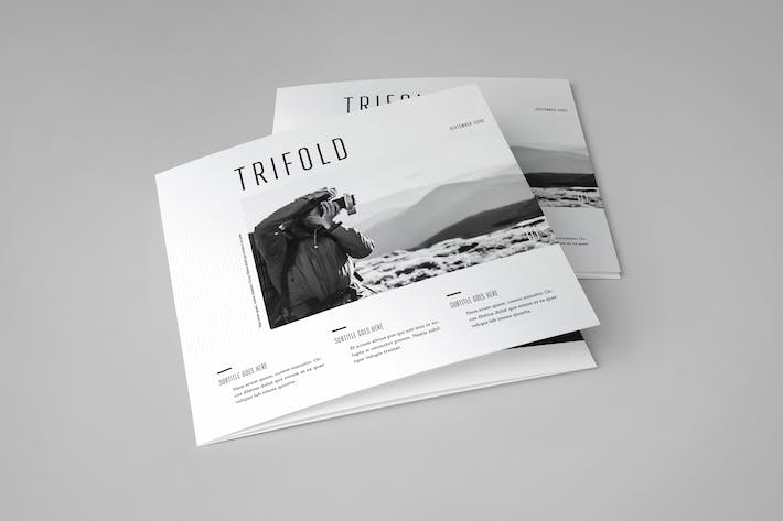 Thumbnail for Square Cool Minimal Photography Trifold