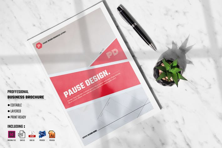 Thumbnail for PAUSE - Professional Business Brochure Template
