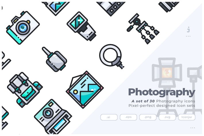 Thumbnail for 30 Photography Icons