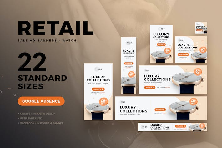 Thumbnail for Retail Sale Web Ad Banners - Watch
