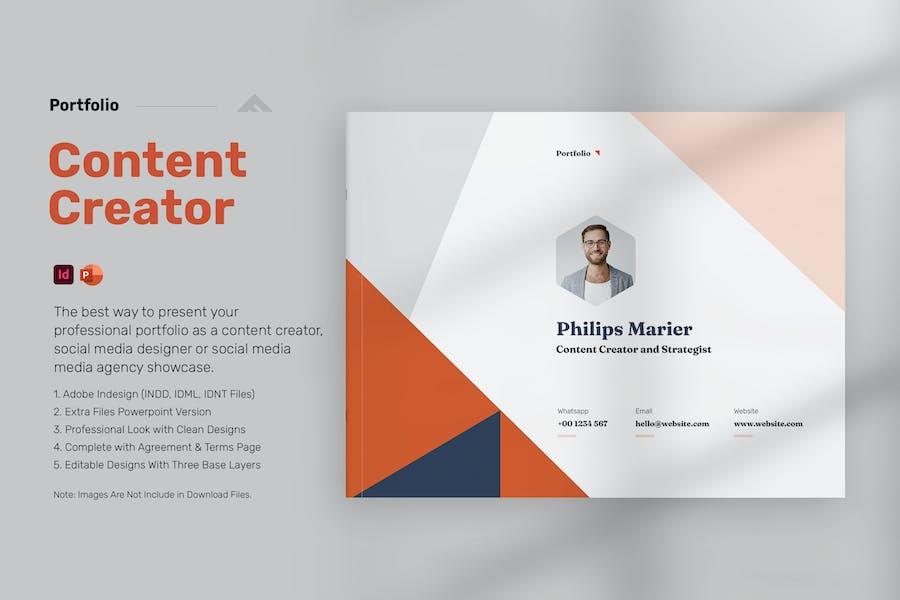 Content Creator Portfolio Template