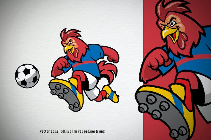 Thumbnail for rooster chicken rooster playing soccer