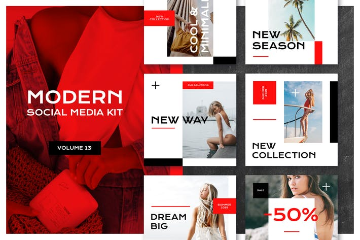 Thumbnail for Modern Social Media Kit (Vol. 14)