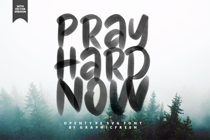Thumbnail for Pray Hard Now SVG Font