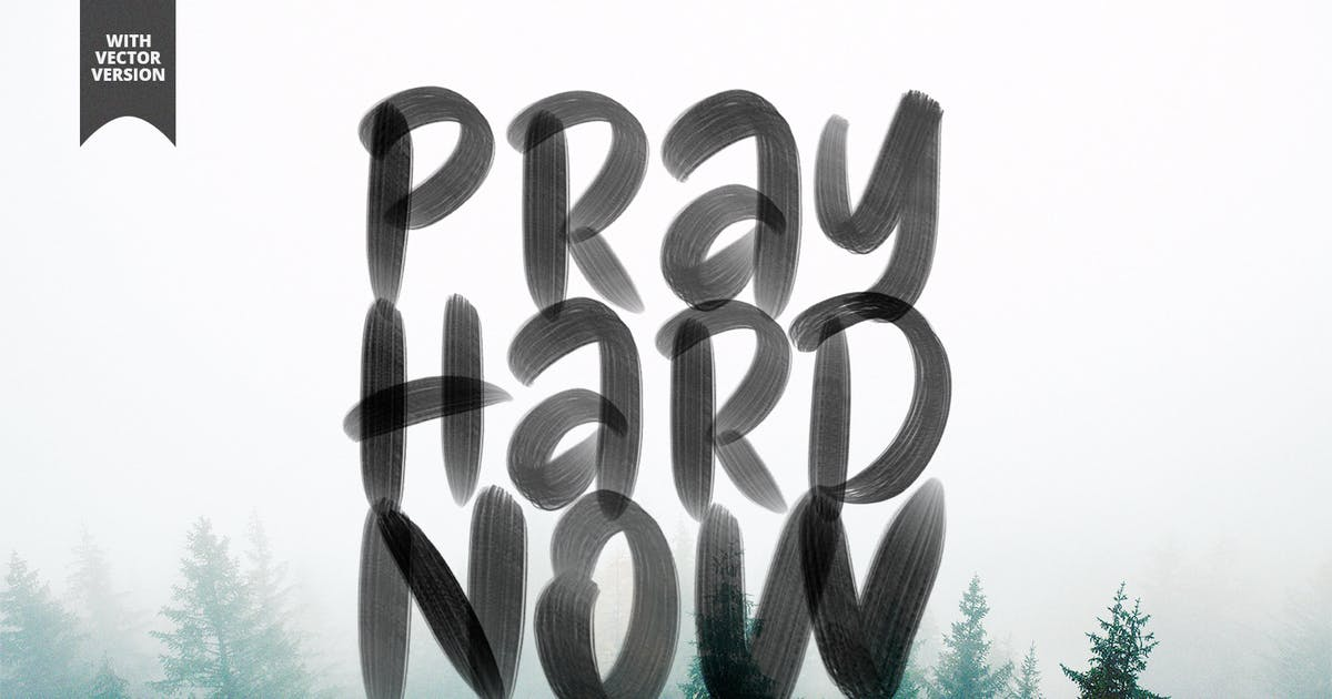 Download Pray Hard Now SVG Font by sameehmedia