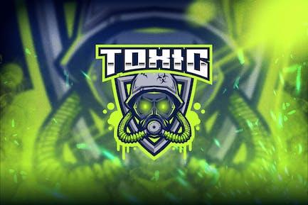 Toxische Esport-Logovorlage