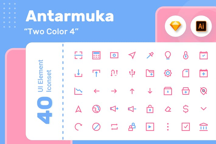 Thumbnail for Antarmuka_Two Color-UI element 5
