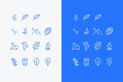 set of vector nature icons or logos
