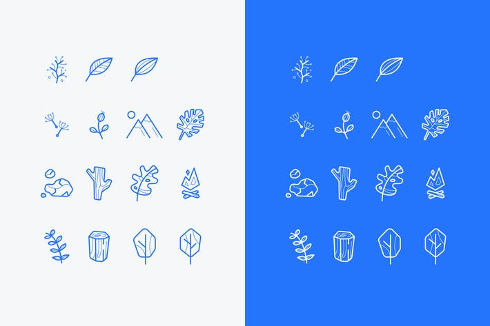 Thumbnail for set of vector nature icons or logos